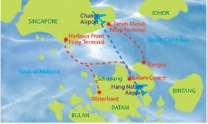 バタム島の位置
